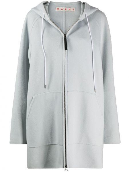 Пальто оверсайз - синее Marni