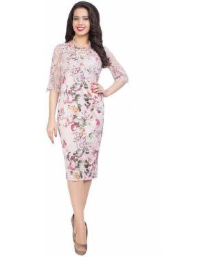 Летнее платье розовое на торжество Wisell