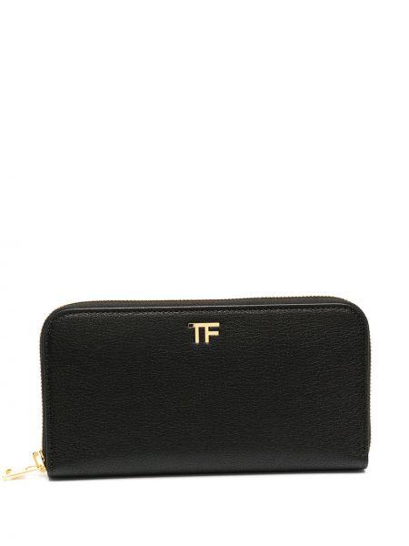 Кожаный кошелек на молнии золотой Tom Ford
