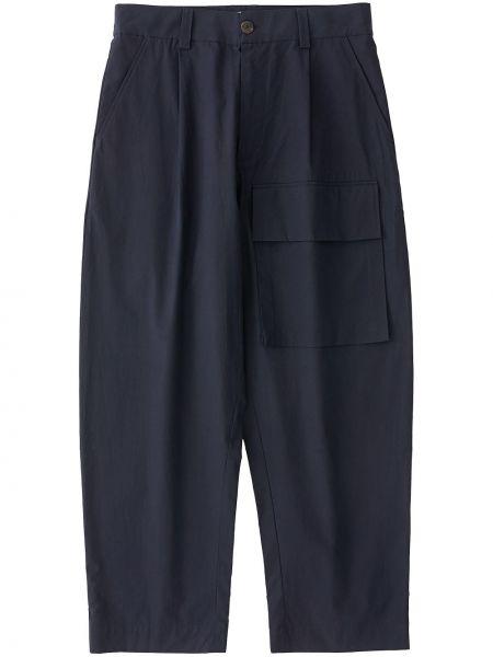 Niebieskie spodnie bawełniane z paskiem Studio Nicholson