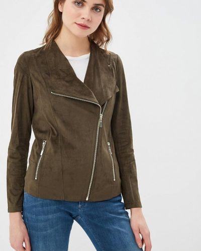 Кожаная куртка весенняя зеленая Wallis