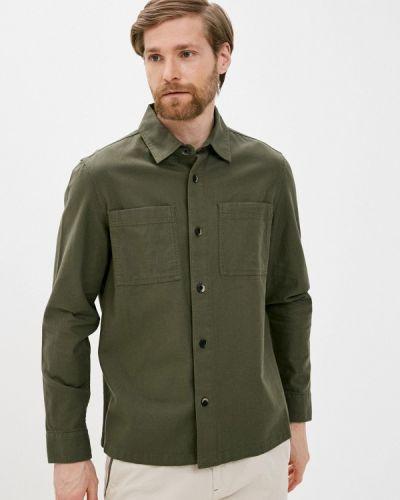 Зеленая джинсовая рубашка Marks & Spencer