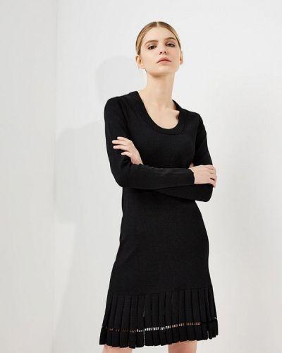 Черное платье с длинными рукавами Michael Michael Kors