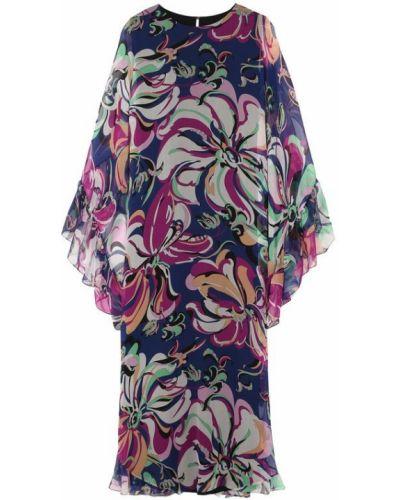 Платье макси с оборками из вискозы Emilio Pucci