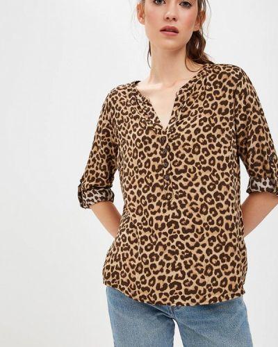 Коричневая блузка с длинным рукавом Tom Tailor