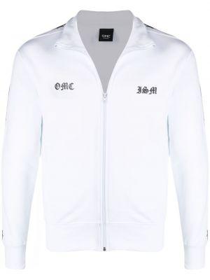 Biała długa kurtka bawełniana ze stójką Omc