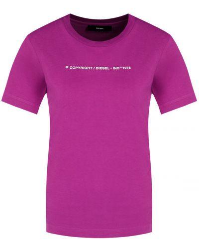 Fioletowy t-shirt Diesel