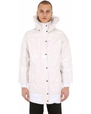 Prążkowana biała kurtka puchowa oversize Last Heirs