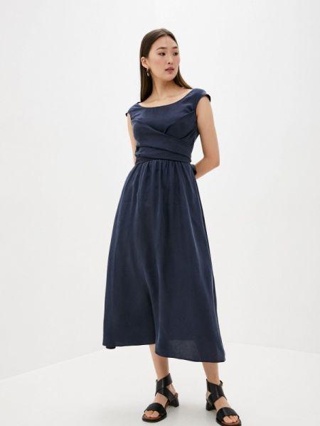 Повседневное платье синее весеннее Lautre Chose