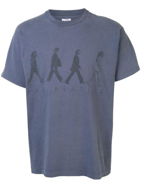 Koszula krótkie z krótkim rękawem karmazynowy z logo Fake Alpha Vintage