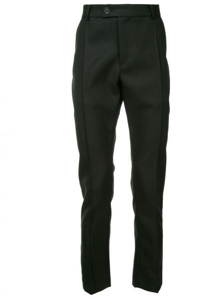 Черные брюки с поясом на пуговицах Strateas Carlucci