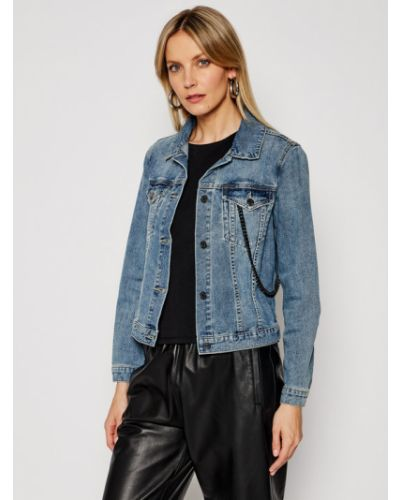 Niebieski kurtka jeansowa Armani Exchange