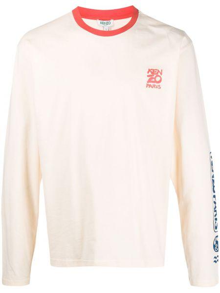 Koszula z długim rękawem z logo prosto Kenzo