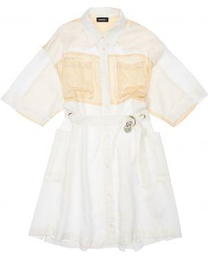 Sukienka z rękawem w klatce Diesel Kids