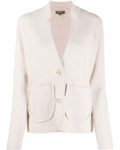 Трикотажный удлиненный пиджак с карманами на пуговицах N.peal