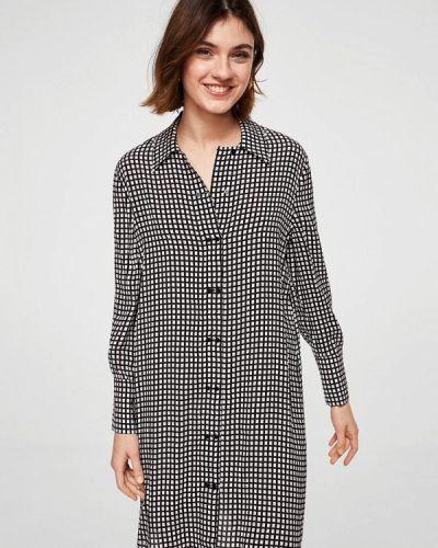 Серое платье рубашка Mango