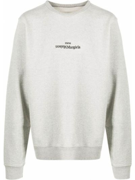 Bawełna bawełna bluza z długimi rękawami z haftem Maison Margiela