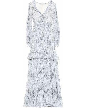 Платье макси с цветочным принтом шифоновое Costarellos