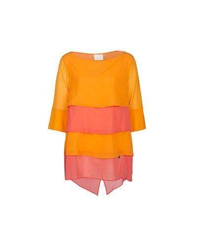 Оранжевая блузка Class Cavalli