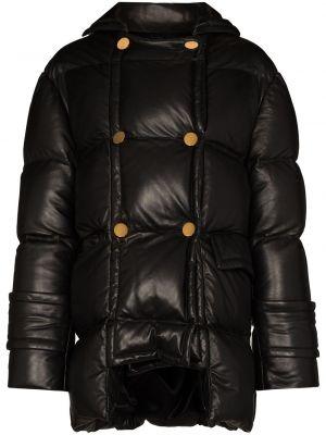 Кожаная куртка на пуговицах - черная Tom Ford