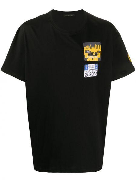 Koszula krótkie z krótkim rękawem czarna włoski Mr And Mrs Italy