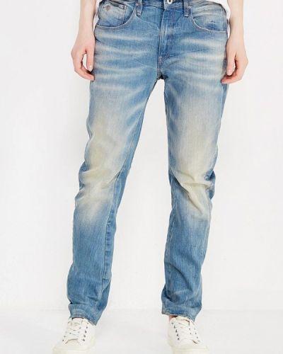 Голубые джинсы бойфренды G-star