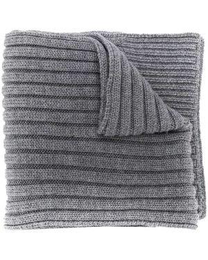 Prążkowany szalik wełniany z haftem Woolrich Kids