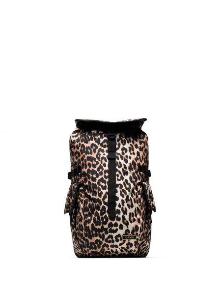 Czarny plecak klamry Ganni