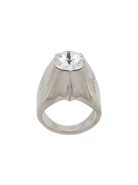 Pierścień ze srebra szary Gucci