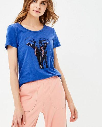 Синяя футболка индийская Tom Tailor
