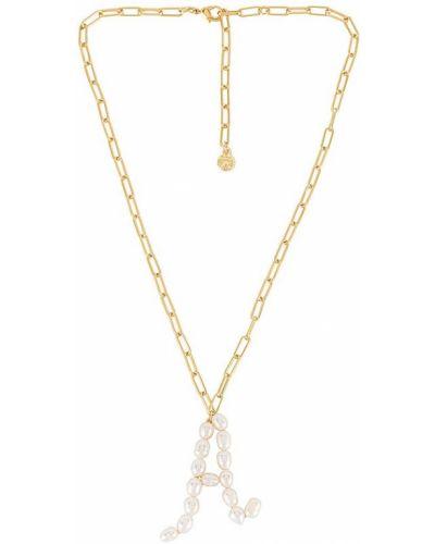 Złoty naszyjnik perły pozłacany Baublebar