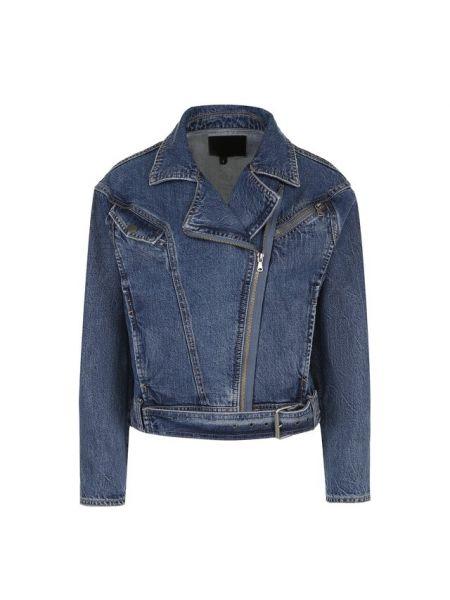 Джинсовая куртка укороченная из плотной ткани Paige