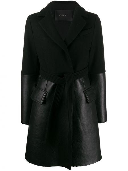 Кашемировая черная куртка с карманами Blancha