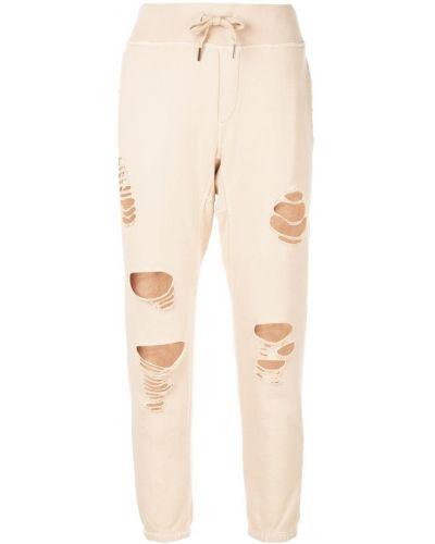 Укороченные спортивные брюки - бежевые Nsf