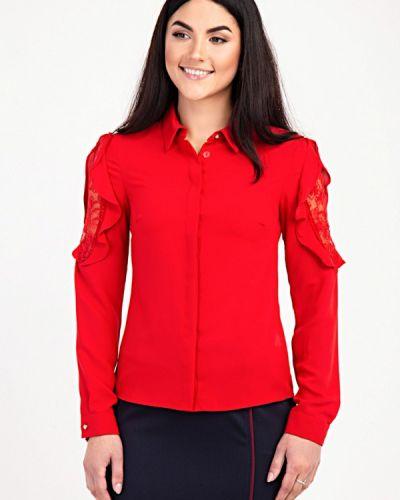 Блузка с рюшами красная Das