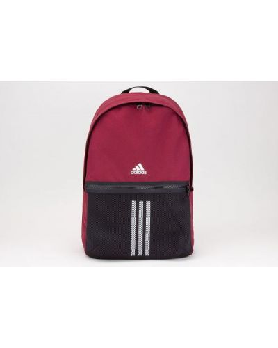 Czerwony plecak szkolny w paski Adidas