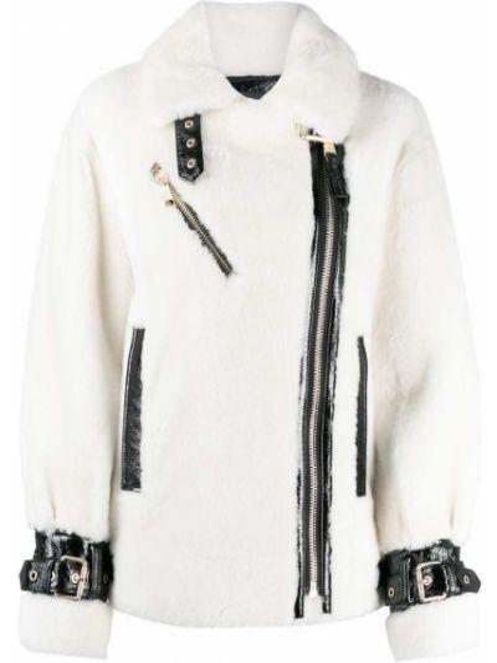 С рукавами белая куртка на молнии Nicole Benisti