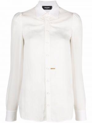 Biała koszula z długimi rękawami - biała Dsquared2