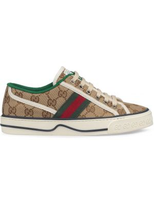 Sneakersy z logo beżowy Gucci