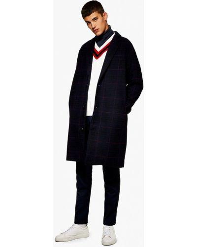 Черное пальто осеннее Topman