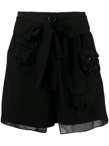 Черные шорты с карманами на пуговицах Almaz