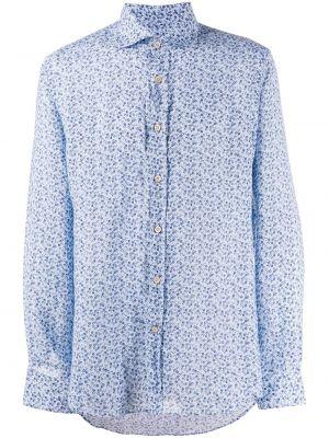 Рубашка с длинным рукавом - синяя Corneliani