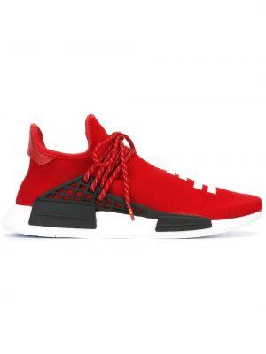 Białe sneakersy z siateczką materiałowe Adidas By Pharrell Williams