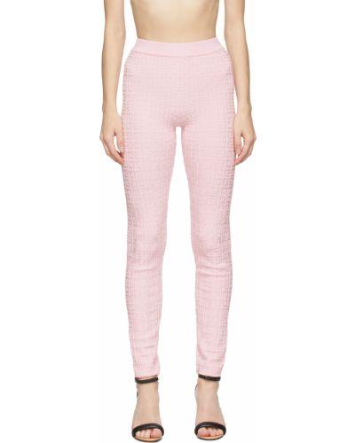 Розовые леггинсы с узором Givenchy