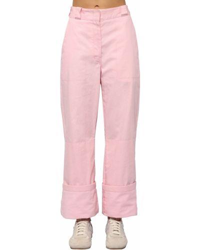 Брюки карго - розовые Loewe