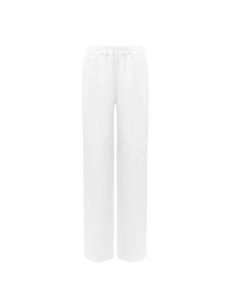 Льняные брюки - белые La Fabbrica Del Lino
