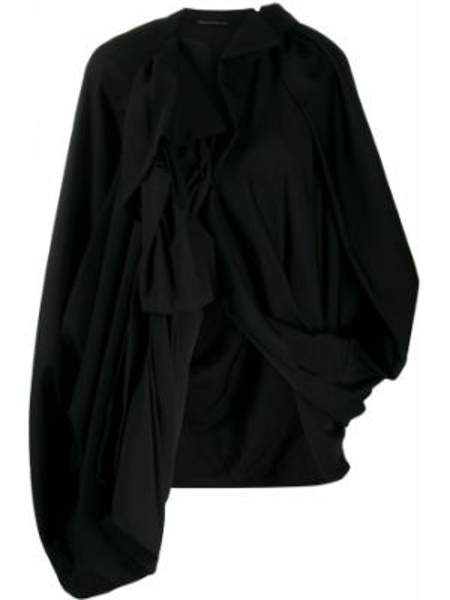 Шерстяная черная куртка оверсайз Yohji Yamamoto