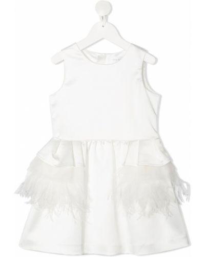 Biała sukienka bez rękawów bawełniana Charabia