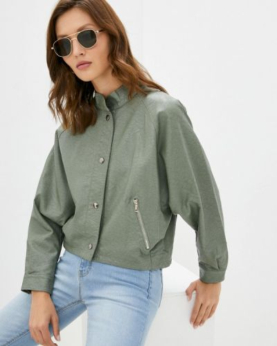Кожаная куртка - зеленая Grafinia