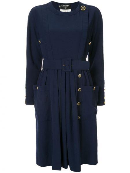 Платье с поясом винтажная на пуговицах Chanel Pre-owned